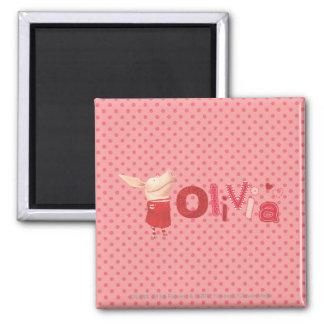 Olivia - 1 square magnet