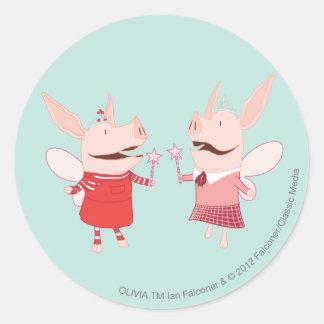 Olivia and Francine - Fairy Round Sticker