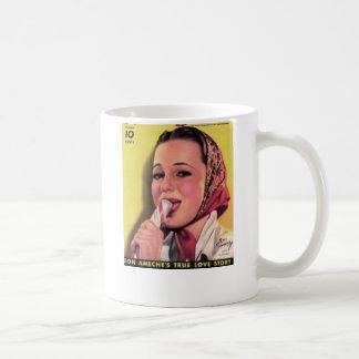Olivia DeHavilland Peppermint Candy Basic White Mug