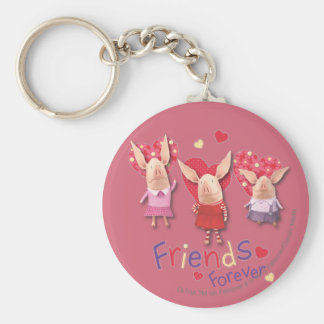 Olivia - Friends Forever Basic Round Button Key Ring