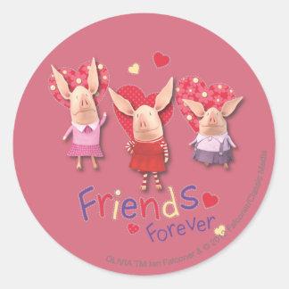 Olivia - Friends Forever Round Sticker