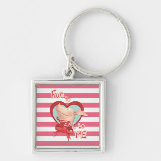 Olivia - Fun to be Me Silver-Colored Square Key Ring