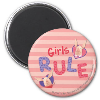 Olivia - Girls Rule 6 Cm Round Magnet