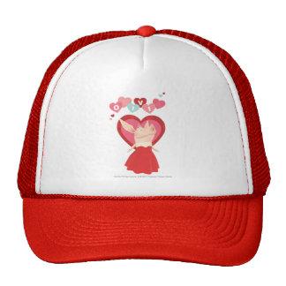 Olivia in Red Dress Cap
