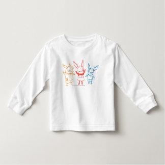 Olivia, Julian, and Ian Cheering Toddler T-Shirt