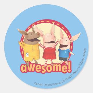 Olivia, Julian, Ian - Awesome! Classic Round Sticker