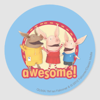 Olivia, Julian, Ian - Awesome! Round Sticker