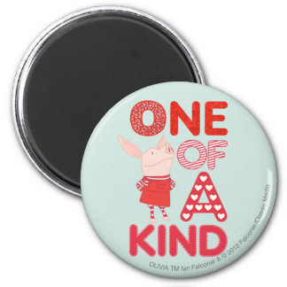 Olivia - One of a Kind 6 Cm Round Magnet