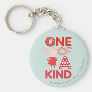 Olivia - One of a Kind Basic Round Button Key Ring