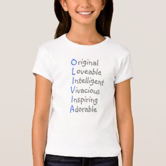Olivia - Personalized Blue Acrostic with Virtues Tees