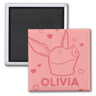 Olivia - Sparkles Square Magnet
