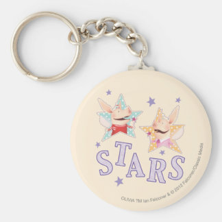 Olivia - Stars Basic Round Button Key Ring
