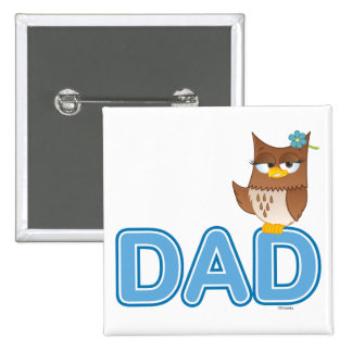 Olivia VonHoot Cartoon Character for Dad - 15 Cm Square Badge