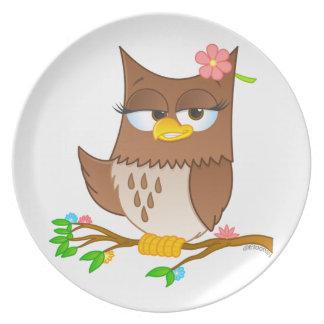Olivia VonHoot Cartoon Character Plate