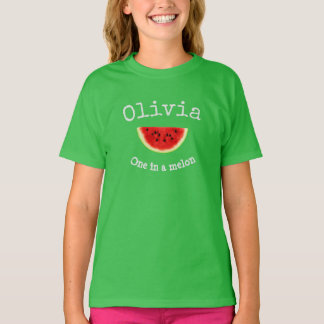 "Olivia Your Child's Name ""One in a melon"" shirt"