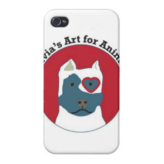 Olivia's Art for Animals Logo iPhone 4/4S Case