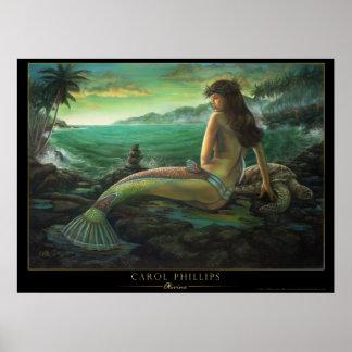 olivine- hawaiian mermaid poster carol phillips