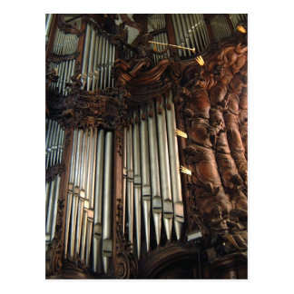 Oliwa Cathedral organ postcard