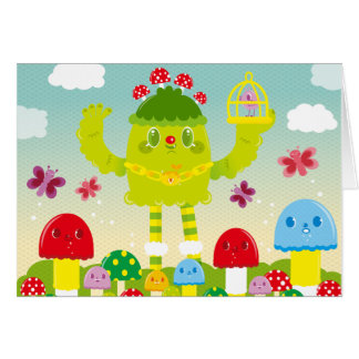 OLLABOKU Spring Monster Greeting Card