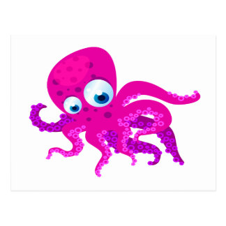 Olly The Octopus Postcard