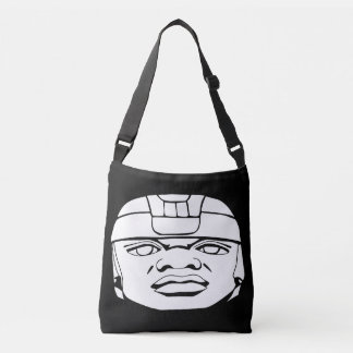 Olmec white crossbody bag
