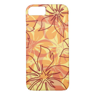 Olowalu Hibiscus Hawaiian Camo Papaya iPhone 8/7 Case