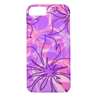 Olowalu Hibiscus Hawaiian Camo Violet iPhone 8/7 Case