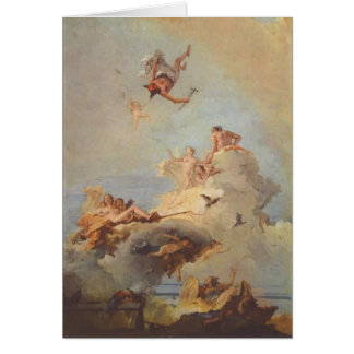 Olymp by Giovanni Battista Tiepolo Card