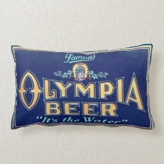 Olympia Beer Lumbar Pillow