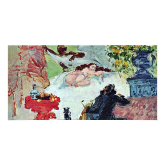 Olympia By Paul Cézanne (Best Quality) Customised Photo Card