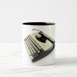 Olympia De Luxe portable typewriter Two-Tone Coffee Mug