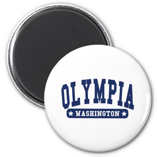 Olympia Washington College Style tee shirts Refrigerator Magnet