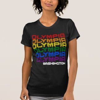 Olympia, Washington Gay Pride Rainbow Flag City T-Shirt