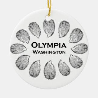 Olympia Washington Oysters Ceramic Ornament