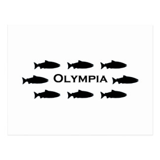 Olympia Washington Salmon Logo Postcard