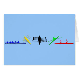 Olympian Mens Athlete Rowing Womens Sports Greeting Card