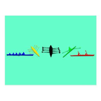 Olympian Mens Athlete Rowing Womens Sports Postcard