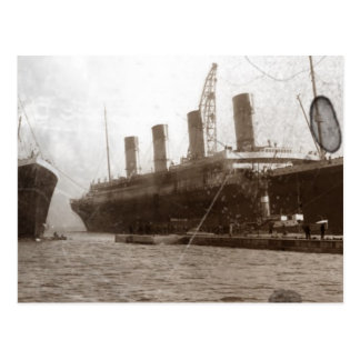 Olympic and Titanic Postcard