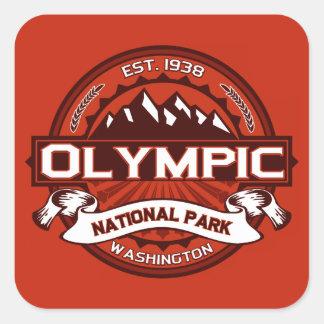 Olympic Crimson Square Sticker