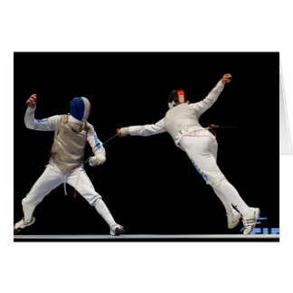 Olympic Fencing Lunge and Parry Card