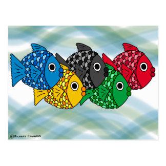 Olympic Fish postcard