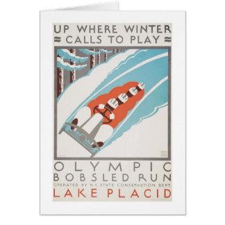 Olympic Fun Lake Placid 1936 WPA Card