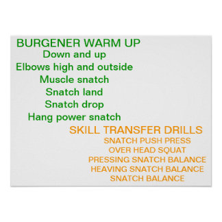 Olympic Lifting Warm-Up Poster