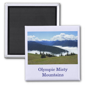 Olympic Misty Mountains Magnet