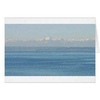 Olympic mountain range card