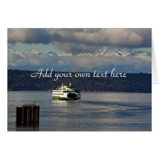 Olympic Mountains and Washington State ferry Card