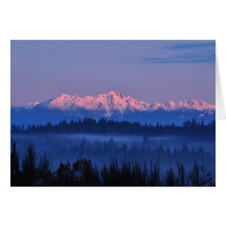 Olympic Mountains at Sunrise Card