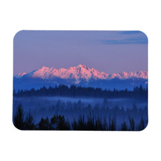 Olympic Mountains at Sunrise Magnet