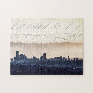 Olympic Mountains over Seattle Puzzle, Section 3 Jigsaw Puzzle