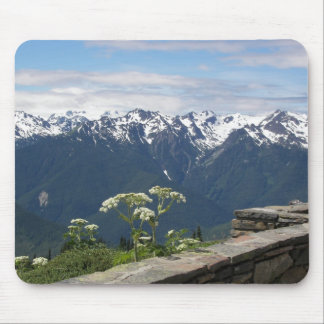 Olympic Mountains View Photo Mouse Pad